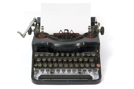 Alte leicht tragbare Schreibmaschine Metall Standard-Bild - 1868755