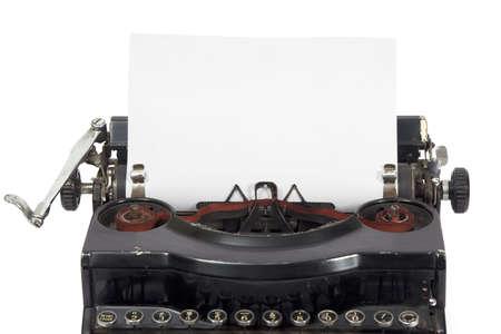Old easily portable metal typewriter