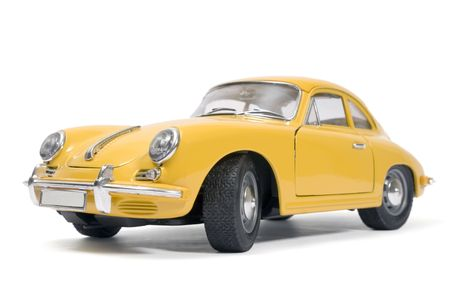 toy cars: Yellow classical sports car toy