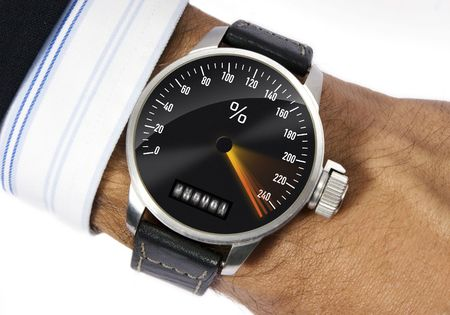 Wrist watch to measure the stress Stock Photo