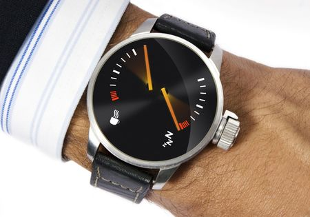 tribute: Wrist watch to measure the stress Stock Photo