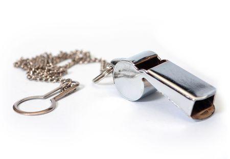 Metall-Pfeife mit Kette aufhängen Standard-Bild - 1807869