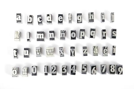 Some block letters forming the alphabet Stock Photo