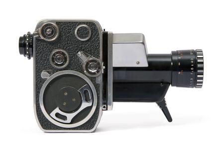 camara de cine: Cl�sica pel�cula 8mm c�mara manual