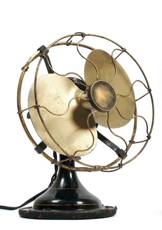 Old electric black metal ventilator
