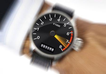 Armbanduhr zur Messung der Belastung  Standard-Bild - 1868703