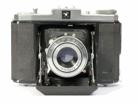 Altes Foto-Kamera mit Objektiv von Blasebalg  Standard-Bild - 2257231