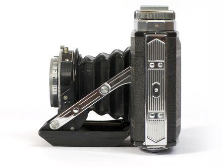 Old fotografischen Linse der Kamera mit Faltenbalg Standard-Bild - 2257227