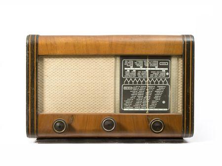 Alte hölzerne Radio, das auf Lampen  Standard-Bild - 2265687