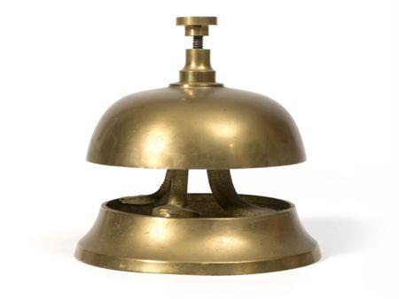 Clásico de campana de la recepción de un hotel Foto de archivo - 2265683