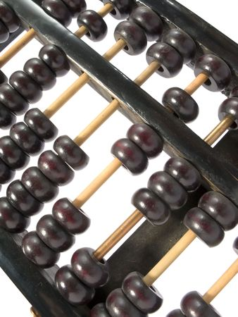 abacus: Antique wooden abacus Stock Photo