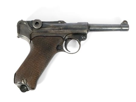 luger: Semi-automatic gun Luger of the II world war Stock Photo