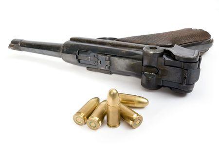 Halbautomatische Pistole Luger des Zweiten Weltkriegs Standard-Bild - 2337056