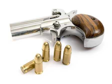 Small pocket pistol with two shots Stock Photo - 2337063