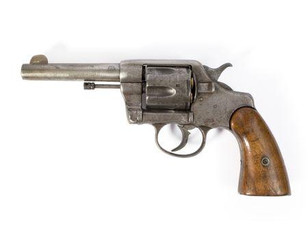 Old six-shooter 38 calibre revolver