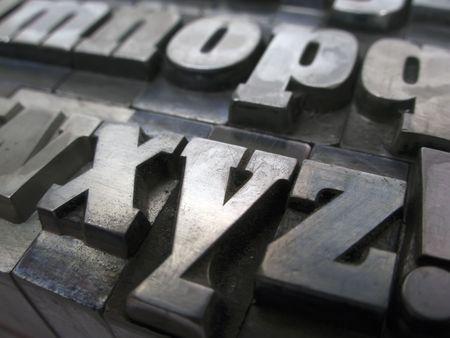 Schreiben Blöcke für Blei-typesetting  Standard-Bild - 2397759