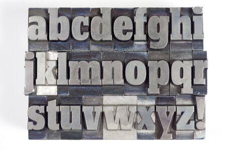Drucker Blöcke mit Englisch Alphabet. Kleinbuchstaben.  Standard-Bild - 2406470