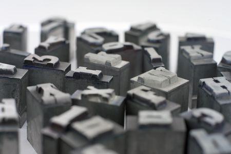 Drucker blockiert. Klein-und Großbuchstaben. Standard-Bild - 2436072