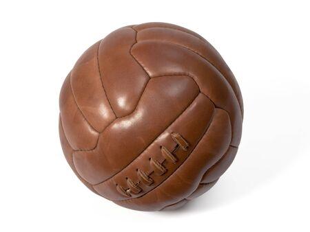 Alte Leder-Ball zu spielen Fußball. Standard-Bild - 2515833