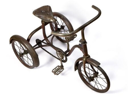 antique tricycle: Old and rust iron tricycle.