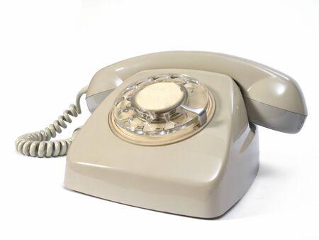 Altes Telefon in beige Farbe. Standard-Bild - 2592555