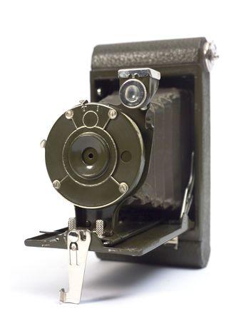 Alte fotographische Kamera mit Objektiv des Balges. Standard-Bild - 2958260