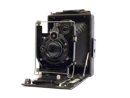 Altes Foto-Kamera mit Objektiv der Blasebalg.  Standard-Bild - 2958264