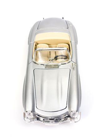 Klassische Sportwagen Modell Spielzeug. Ansicht von oben.  Standard-Bild - 2989555