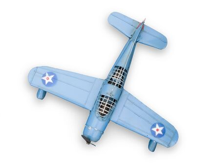 Old model fighter metal toy. Isolated on white. Stock Photo - 3297070