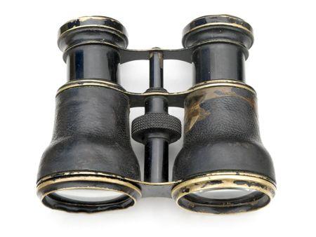Alte schwarze Fernglas isoliert auf weißem Hintergrund. Standard-Bild - 3297072