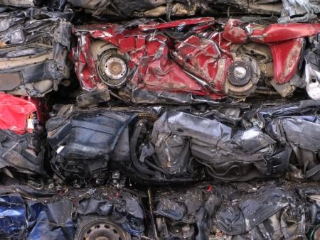 metallschrott: Autos verschrottet zu recyceln.