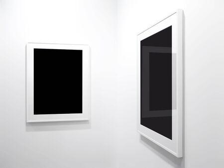 Leere Bilder auf schwarzem Hintergrund. Standard-Bild - 3352479