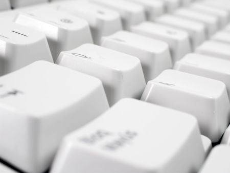 Macro shot of computer keyboard. Stock Photo - 3379541