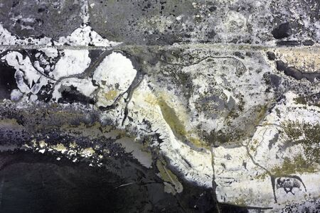 tinplate: Grunge texture. Burned tinplate of car scrapped.