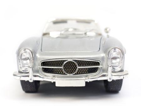 Klassische Sport-Auto-Modell Spielzeug. Vorderansicht. Standard-Bild - 3852089