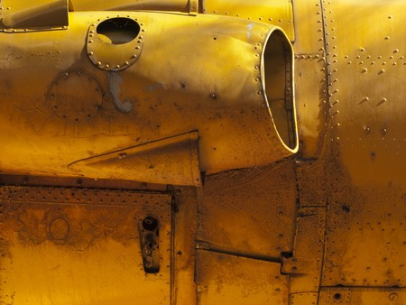 Engine detail of old airplane. Stock Photo - 4144209