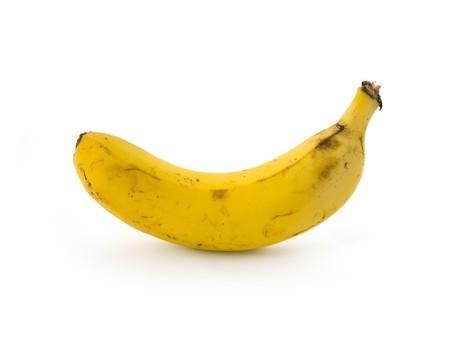 Frische Bananen isoliert auf weiß. Standard-Bild - 4180386
