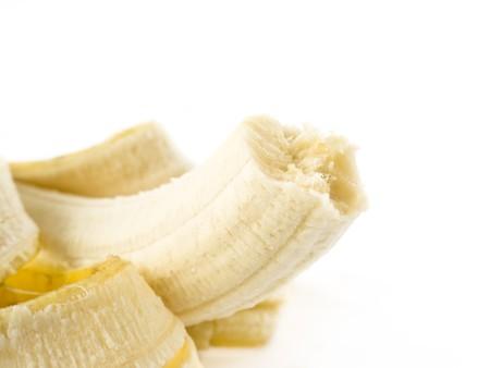 peeled banana: Peeled banana isolated on white.