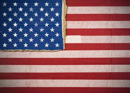 Flag of United States, USA made with corrugated cardboard Stock Photo - 5118955