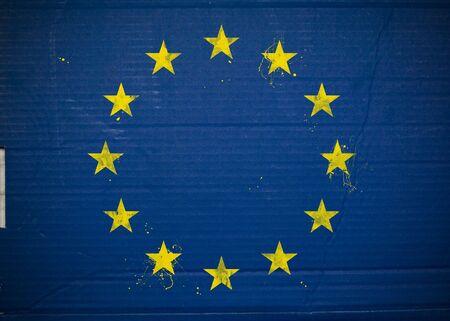 eec: Flag of European Economic Community, EEC made with corrugated cardboard
