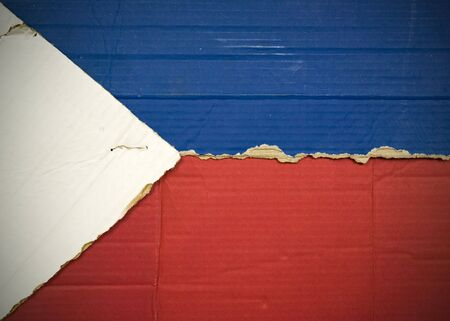 Flag of Philippines made with corrugated cardboard Stock Photo