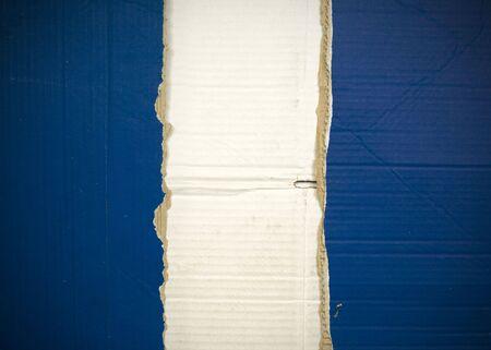 Flag of Guatemala made with corrugated cardboard