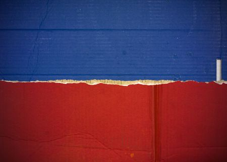 liechtenstein: Flag of Haiti, Liechtenstein made with corrugated cardboard Stock Photo
