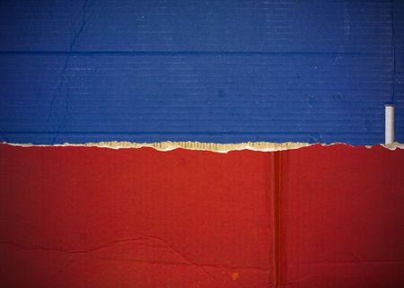 Flag of Haiti, Liechtenstein made with corrugated cardboard Stock Photo