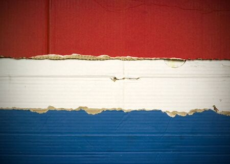 Flag of Luxembourg, Holland made with corrugated cardboard