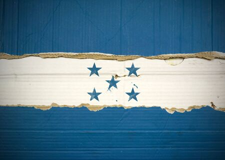 Flag of Honduras made with corrugated cardboard Stock Photo