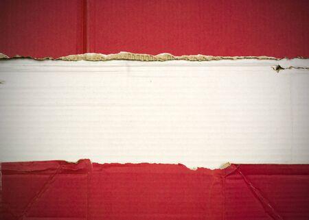 Flag of Lebanon made with corrugated cardboard Stock Photo