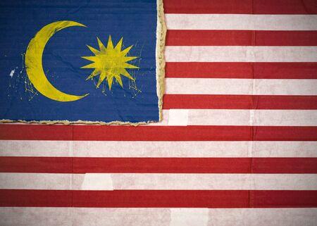 Flagge von Malaysia aus Wellpappe Standard-Bild - 5119070