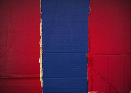 Flag of Mongolia made with corrugated cardboard