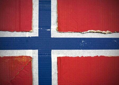 Flagge von Norwegen aus Wellpappe Standard-Bild - 5119078